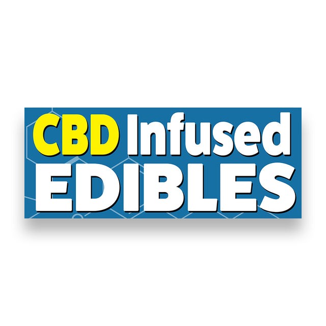 CBD INFUSED EDIBLES Vinyl Banner (Size Options)