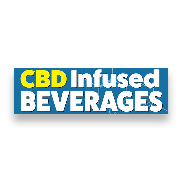CBD INFUSED BEVERAGES Vinyl Banner (Size Options)