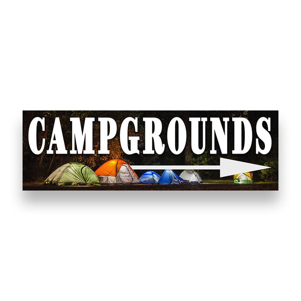 Campgrounds Right Arrow Vinyl Banner (Size Options)
