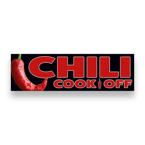 CHILI COOK OFF Vinyl Banner (Size Options)