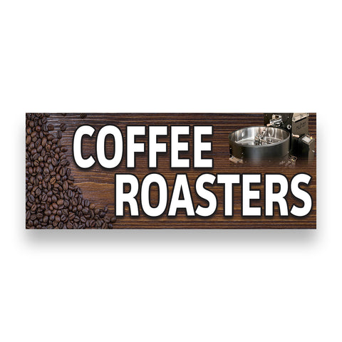 COFFEE ROASTERS Vinyl Banner (Size Options)