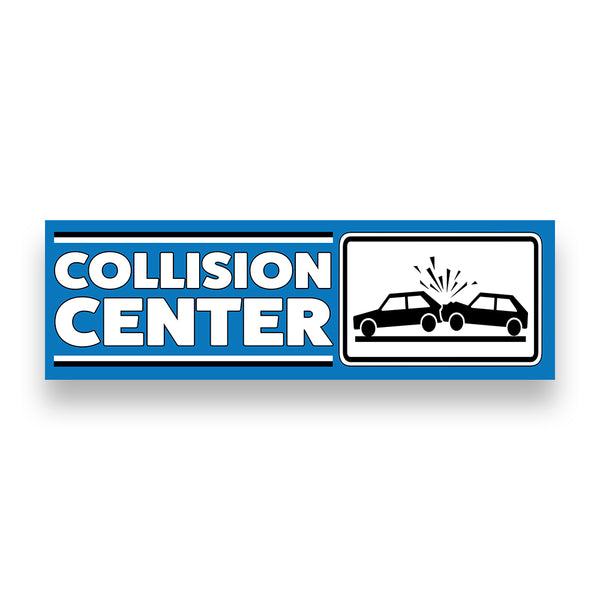COLLISION CENTER Vinyl Banner (Size Options)