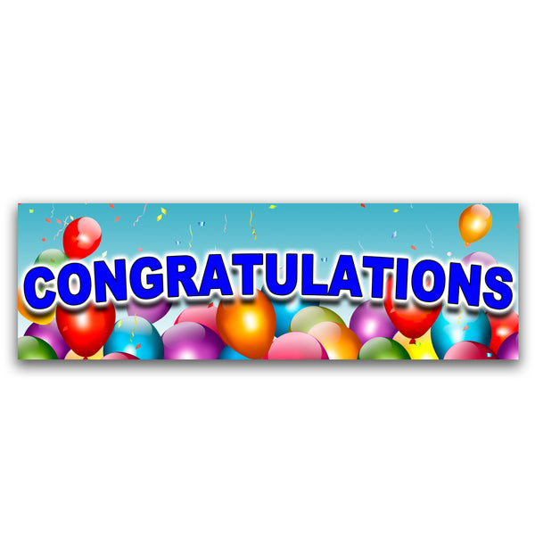 Congratulations Vinyl Banner (Size Options)