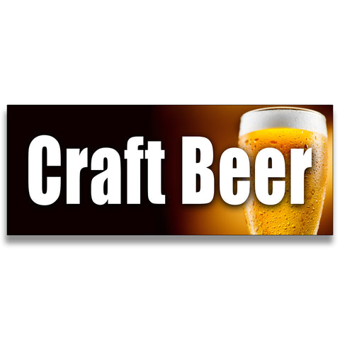 Craft Beer Vinyl Banner (Size Options)