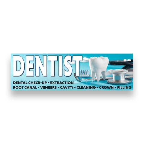 DENTIST Vinyl Banner (Size Options)