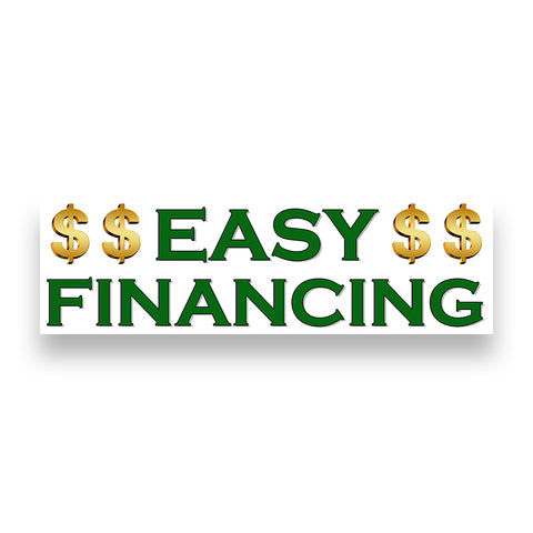 EASY FINANCING Vinyl Banner (Size Options)