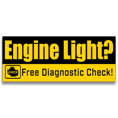 Engine Light Free Diagnostic Vinyl Banner (Size Options)