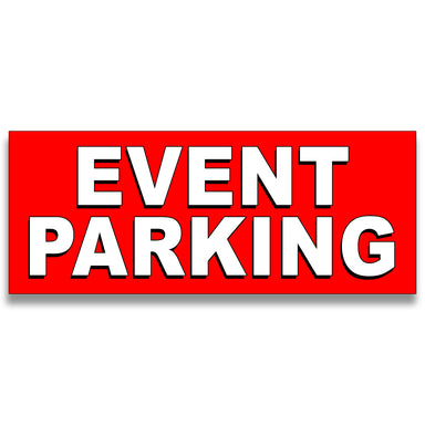 Event Parking Vinyl Banner (Size Options)