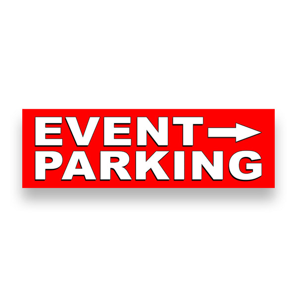 EVENT PARKING RIGHT ARROW Vinyl Banner (Size Options)