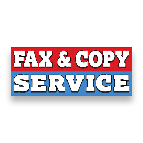 FAX & COPY SERVICE Vinyl Banner (Size Options)