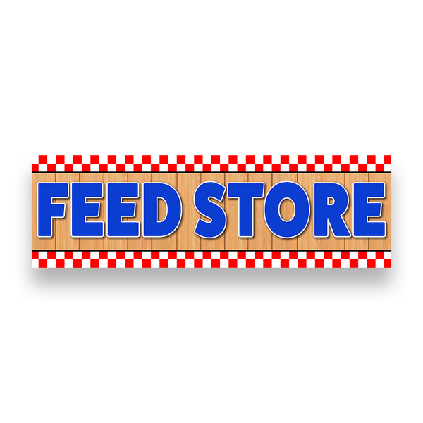 FEED STORE Vinyl Banner (Size Options)