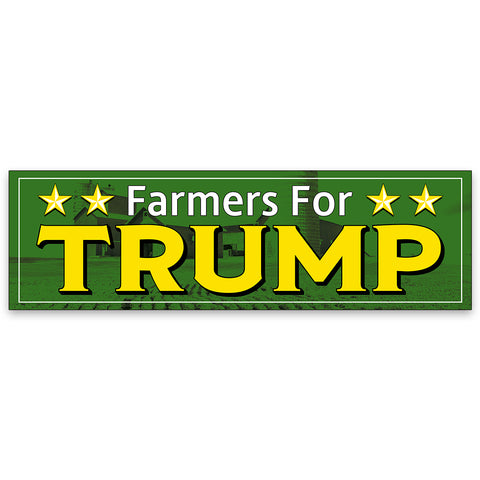 Farmers For TRUMP Vinyl Banner (Size Options)