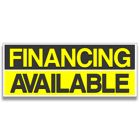 Financing Available Vinyl Banner (Size Options)