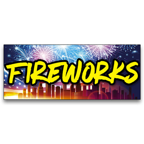Fireworks Vinyl Banner (Size Options)