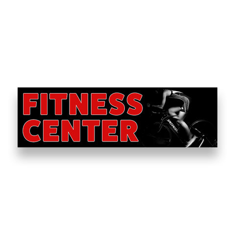 FITNESS CENTER Vinyl Banner (Size Options)