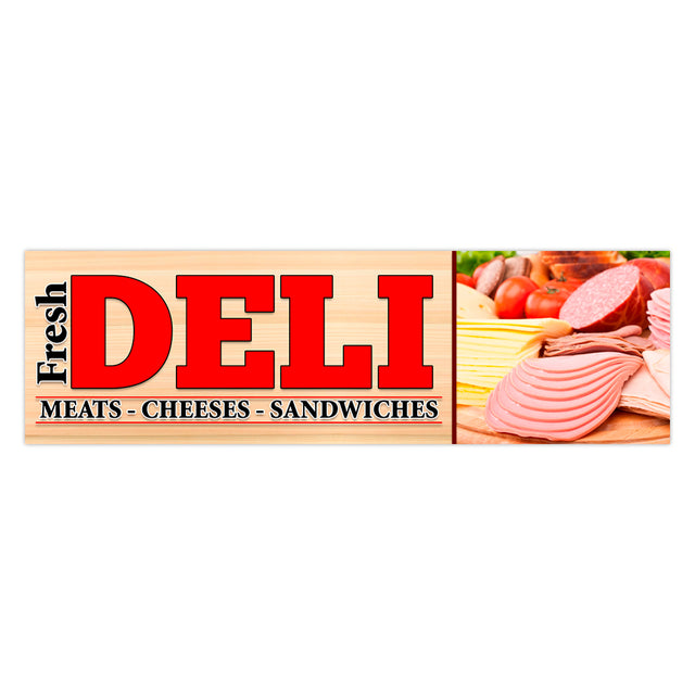 Fresh Deli Vinyl Banner (Size Options)