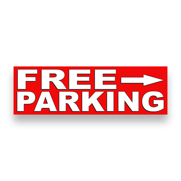 FREE PARKING RIGHT ARROW Vinyl Banner (Size Options)