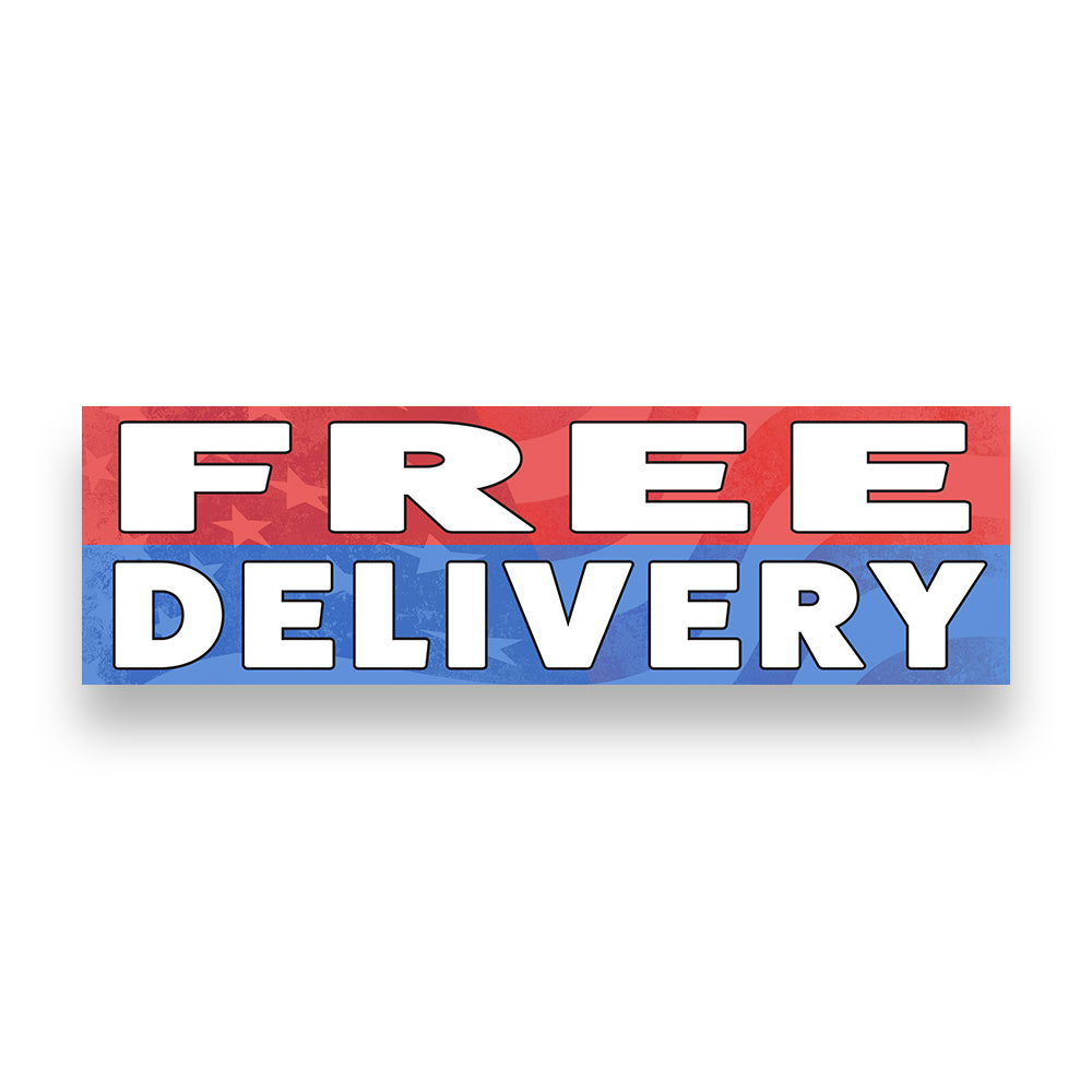 Free Delivery Vinyl Banner (size Options)