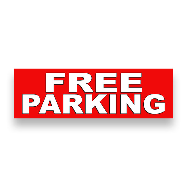 FREE PARKING Vinyl Banner (Size Options)