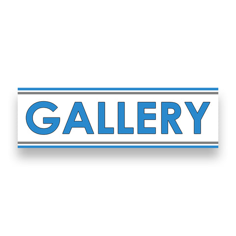 GALLERY Vinyl Banner (Size Options)