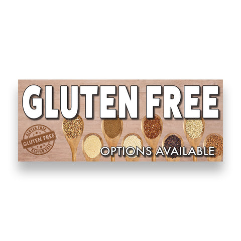 GLUTEN FREE Options Available Vinyl Banner (Size Options)