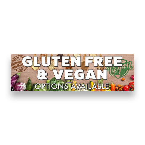 GLUTEN FREE & VEGAN Options Available Vinyl Banner (Size Options)