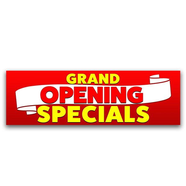 Grand Opening Specials Vinyl Banner (Size Options)