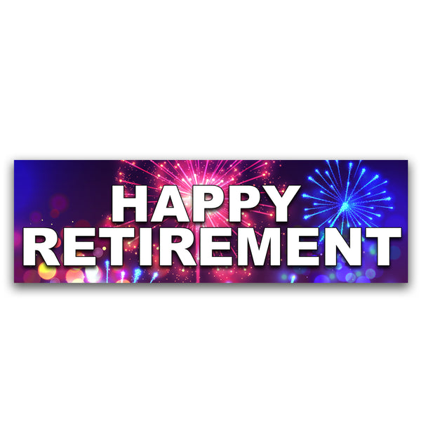 Happy Retirement Vinyl Banner (Size Options)