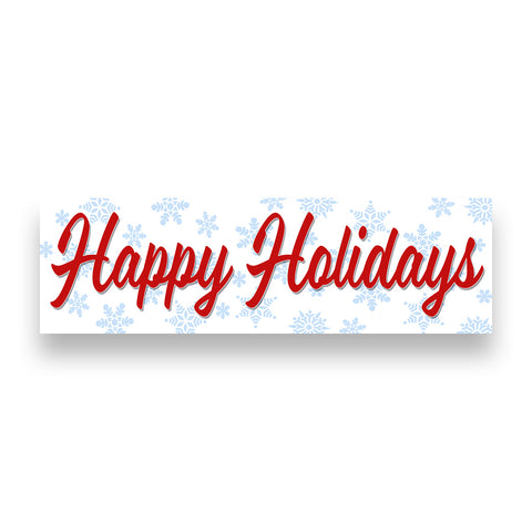 HAPPY HOLIDAYS Vinyl Banner (Size Options)