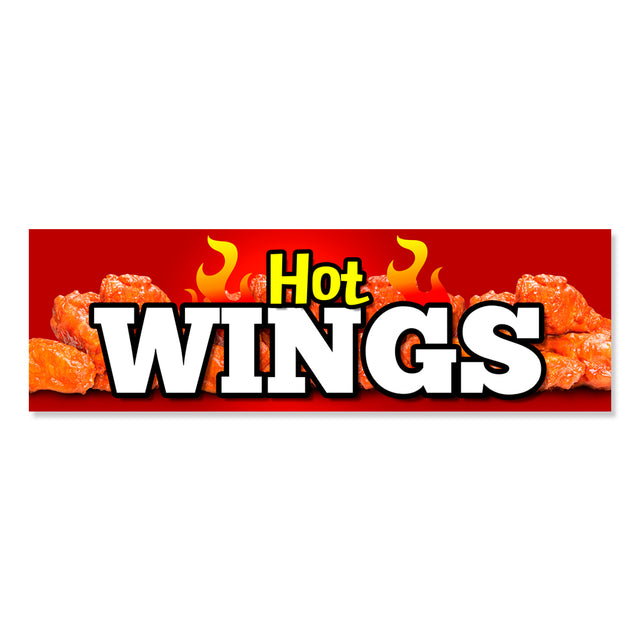 Hot Wings Vinyl Banner (Size Options)