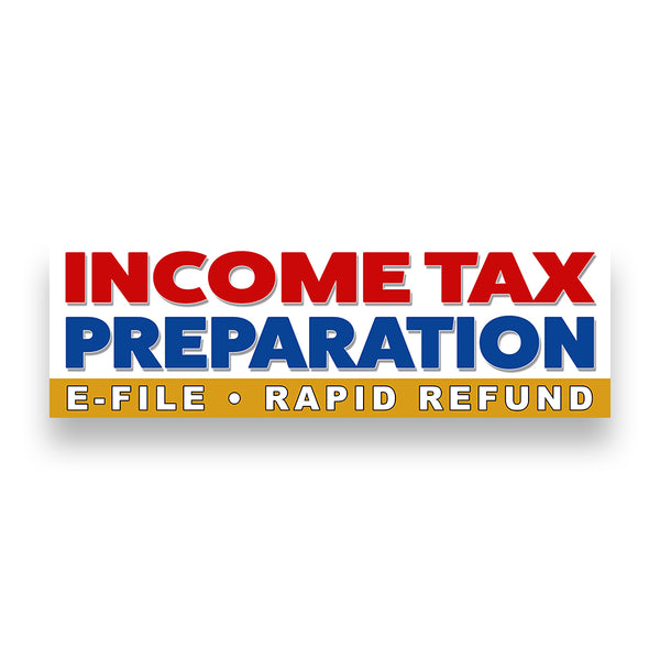 INCOME TAX PREPARATION Vinyl Banner (Size Options)