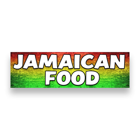 Jamaican Food Vinyl Banner (Size Options)