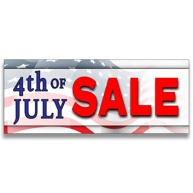 4th of July Sale Vinyl Banner (Size Options)