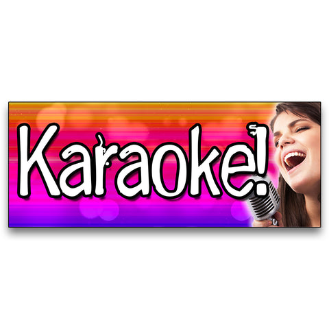 Karaoke! Vinyl Banner (Size Options)