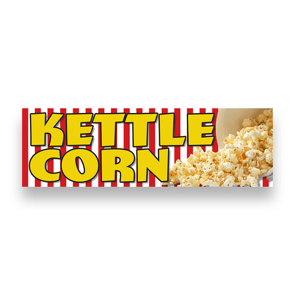KETTLE CORN Vinyl Banner (Size Options)