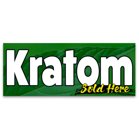 KRATOM Sold Here Vinyl Banner (Size Options)