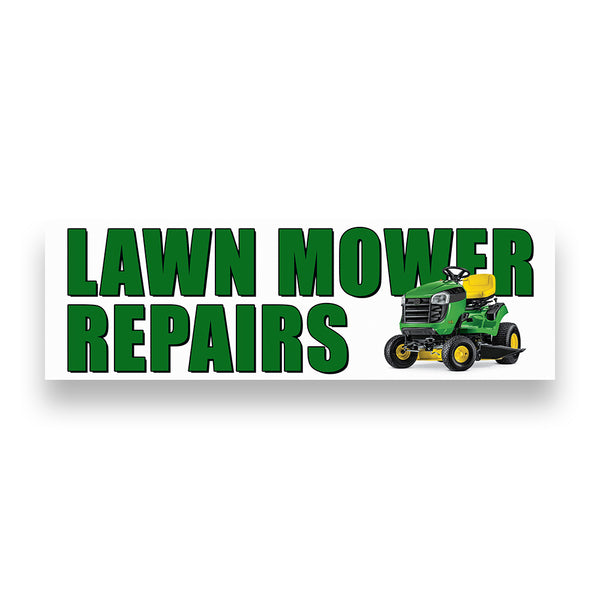 LAWN MOWER REPAIR Vinyl Banner (Size Options)