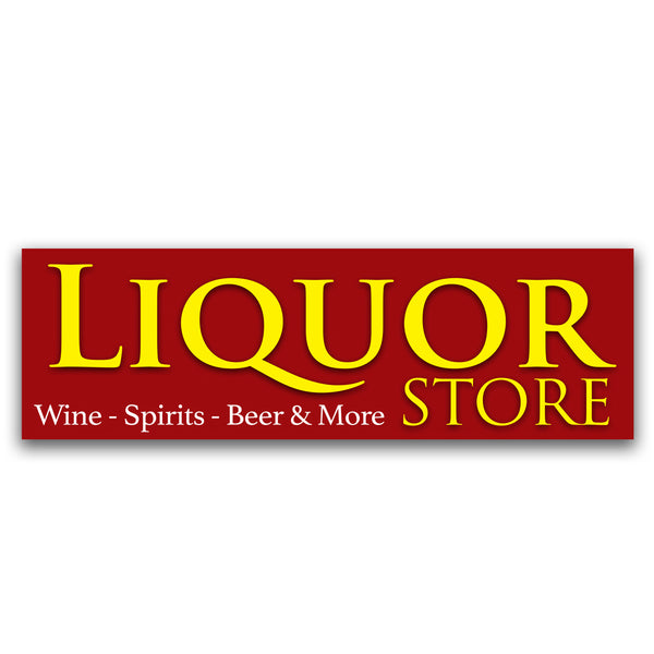 Liquor Store Vinyl Banner (Size Options)