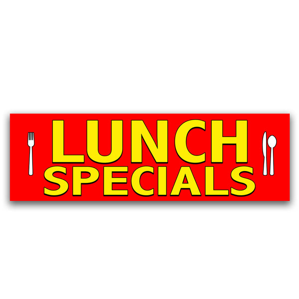 Lunch Specials Vinyl Banner (Size Options)
