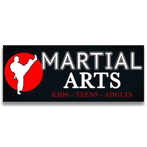 Martial Arts Vinyl Banner (Size Options)