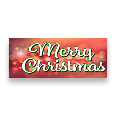 MERRY CHRISTMAS Vinyl Banner (Size Options)