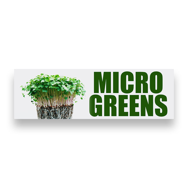 MICRO GREENS Vinyl Banner (Size Options)