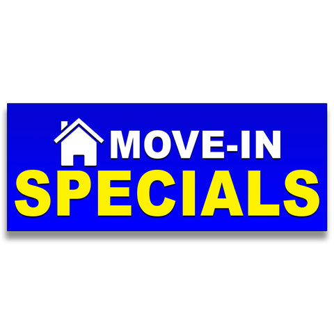Move-in Specials Vinyl Banner (Size Options)