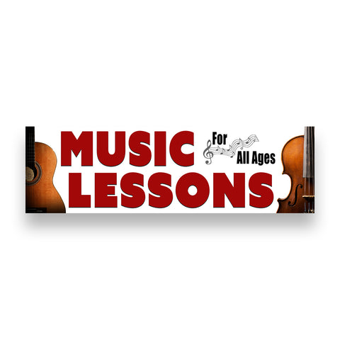 MUSIC LESSONS Vinyl Banner (Size Options)