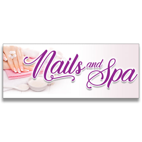 Nails and Spa Vinyl Banner (Size Options)