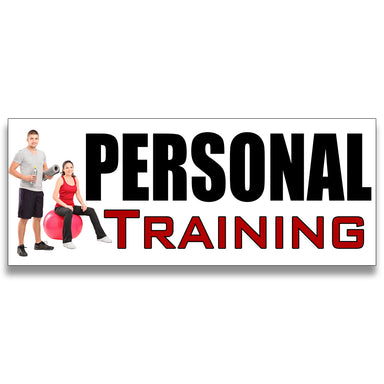 Personal Training Vinyl Banner (Size Options)
