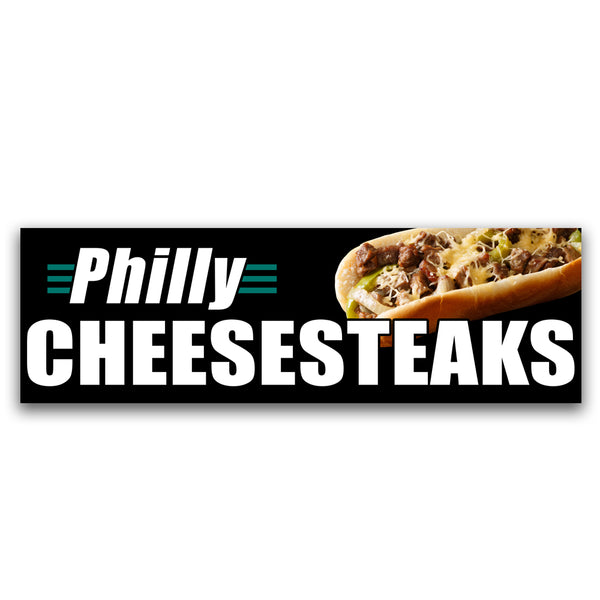 Philly Cheesesteaks Vinyl Banner (Size Options)