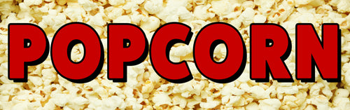 Popcorn Vinyl Banner (Size Options)