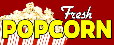 Fresh Popcorn Vinyl Banner (Size Options)