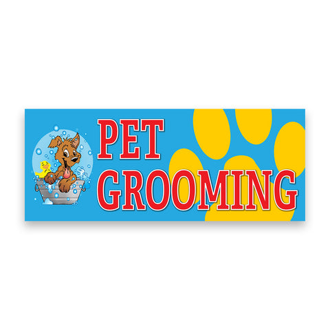 Pet Grooming Vinyl Banner (Size Options)